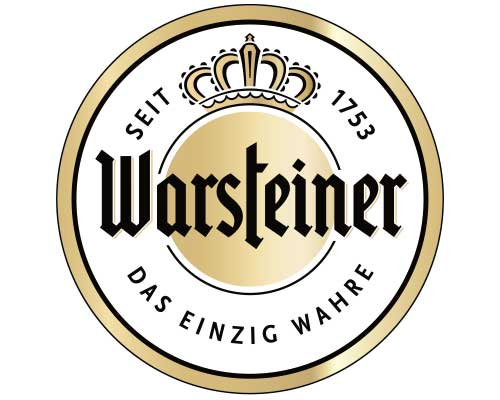 Hauptsponsor Warsteiner Brauerei