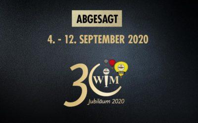 Jubiläums-WIM auf nächstes Jahr verschoben