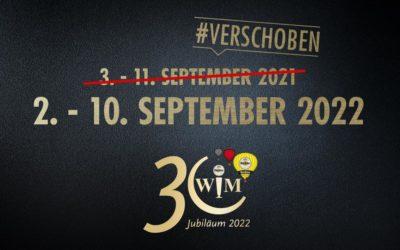 Jubiläums-WIM findet 2022 statt